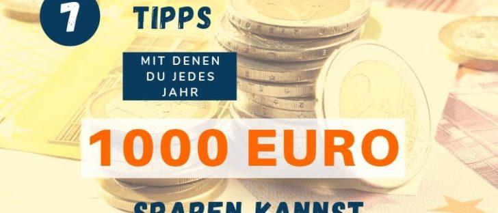 1000 Euro im Jahr sparen