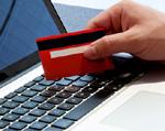 Aktivierung einer Kreditkarte  online am Laptop